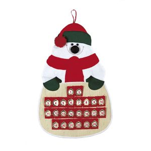 Fabric Snowman Advent Calendar