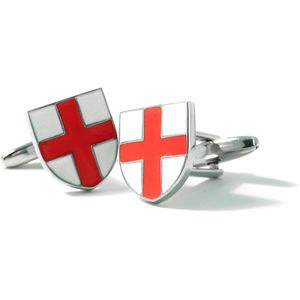 England St George Flag Shield Cufflinks