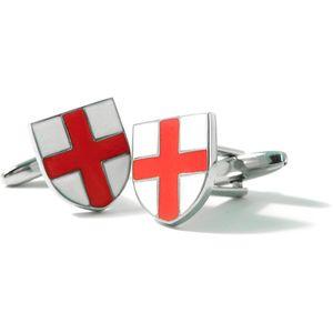 England St George Flag Shield Cufflinks