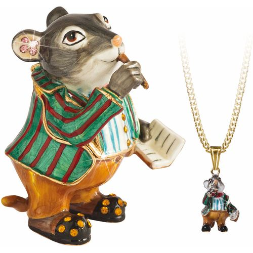 Hidden Treasures Wind in the Willows Ratty Trinket Box with lapel pin