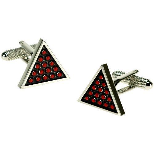 Red snooker balls in triangle novelty cufflinks