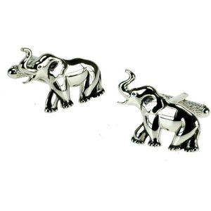 Elephant Cufflinks - Silver Finish