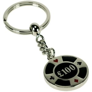 £100 Poker Chip Keyring