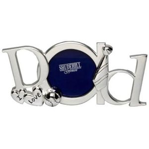 """I Love Dad Silver Plated Photo Frame 3x3"""""""
