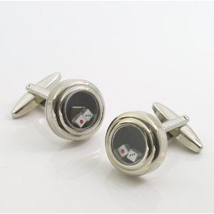 Pair Of Dice in shaker Cufflinks