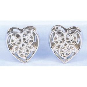Napkin Rings - Silver Hearts Pack of 2