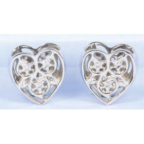 Silver Heart Napkin Rings - set of 2
