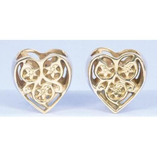 Gold  Heart Napkin Rings - set of 2