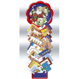 Moonlight Santa Advent Calendar and Card holder