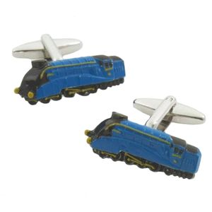 Mallard Train Cufflinks (Blue)