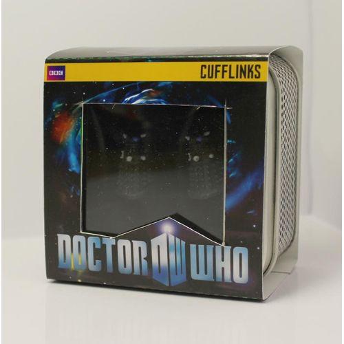 Dr Who 3D Black Dalek Cufflinks
