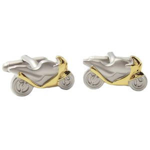 Racing Motor Cycle with Gold Fairing Cufflinks