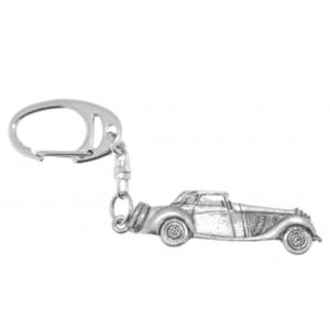 Old Classic Car Pewter Keyring
