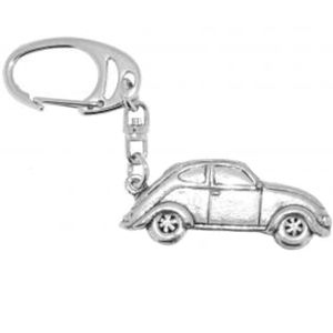 VW Beetle Car English Pewter Keyring