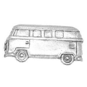 English Pewter Camper Van Tie Pin or Lapel Badge