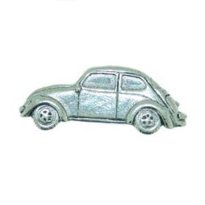 English Pewter VW Beetle Car Tie Pin or Lapel Badge