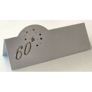60th Celebration Place Cards Pack of 12
