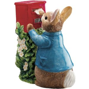 Beatrix Potter Peter Rabbit Ceramic Money Bank - Peter Posting a Letter