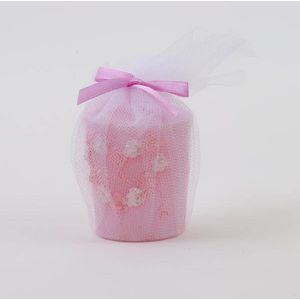 Pack of 4 Wedding Table Favour Candles - Pink