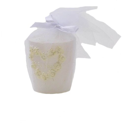 Pack of 4 Wedding Table Candle - White
