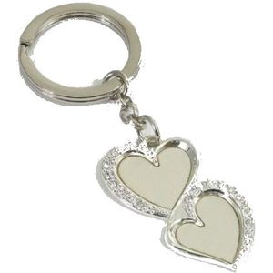 Silver Options Keyring - Ever Lasting (Love Hearts)