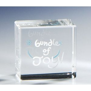 Bundle of Joy -Boy Glass Paperweight