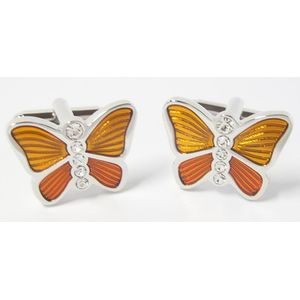 Orange Butterfly Cufflinks