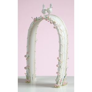 Demdaco Wedding Cake Topper - Arbour with 2 Doves