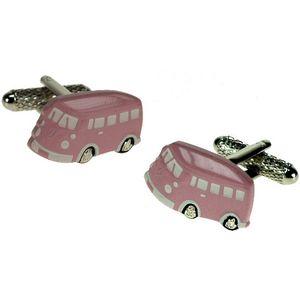 Pink VW Camper Van Cufflinks