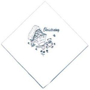 Christening Napkins - White