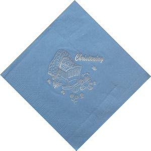Christening Napkins - Blue pack of 15