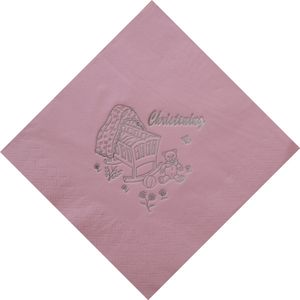 Christening Napkins - Pink