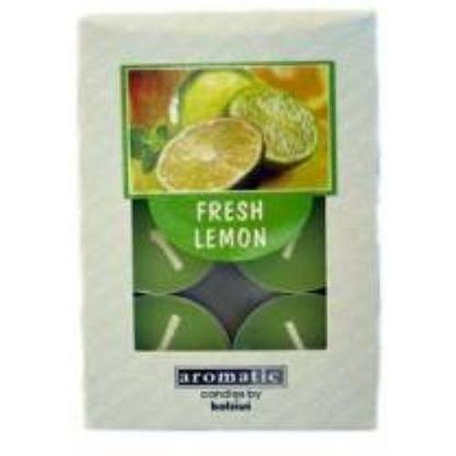Aromatic Scented Tealights Fresh Lemon pack of 6