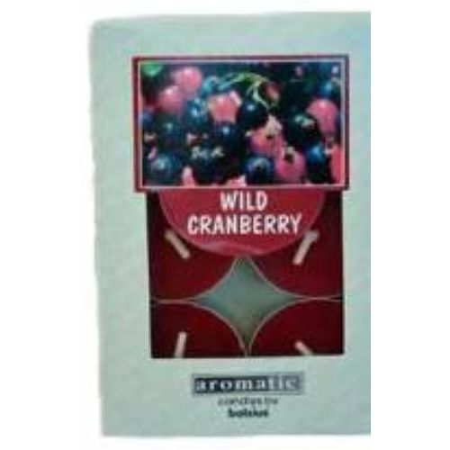 Aromatic Scented Tea lights Wild Cranberry  pack of 6