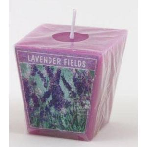 Aromatic Votive Cube Candle - Lavender Fields