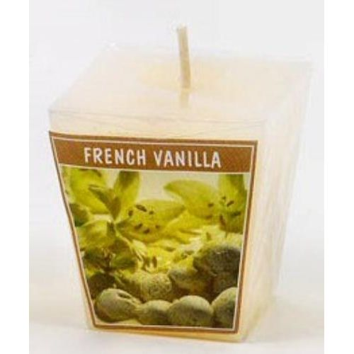 French Vanilla Scented Votive Cube Candle