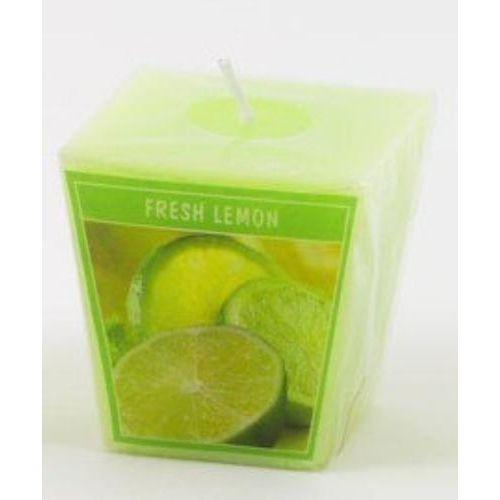 Fresh Lemon Scented Votive Cube Candle