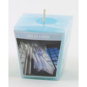 Aromatic Votive Cube Candle - Fresh Linen