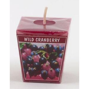 Wild Cranberry Scented Votive Cube Candle