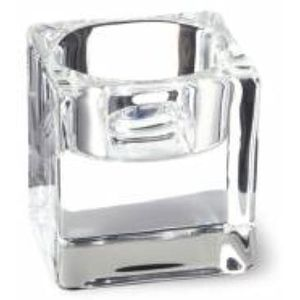 Glass Tea Light Candle Holders Set of 2 - Clear Glass