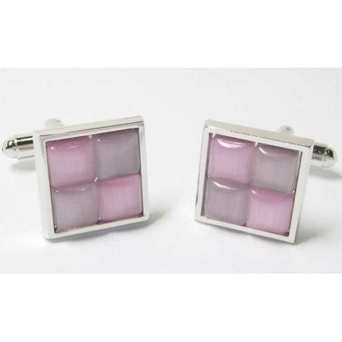 Two Tone pink cufflinks.