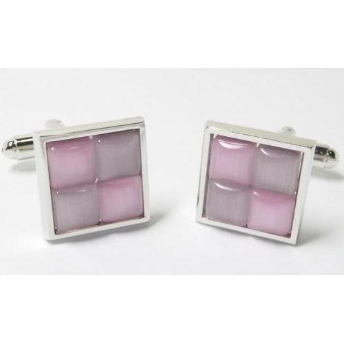 Two Tone pink cufflinks.