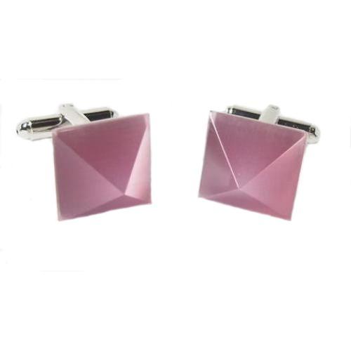 Pink Pyramid shaped cufflinks