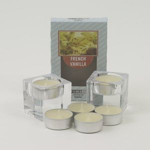 Aromatic Candle Holders & Scented Tea Lights Set - French Vanilla