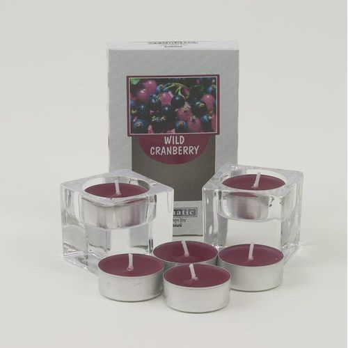 Aromatic Scented Tealight Candles Wild Cranberry  Gift Set
