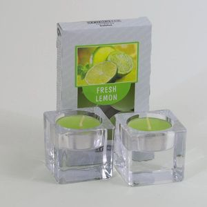 Aromatic Scented Tea Lights Set - Fresh Lemon