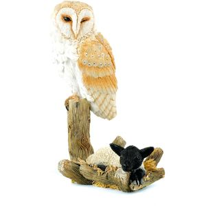Country Artists Barn Owl with Lamb Figurine