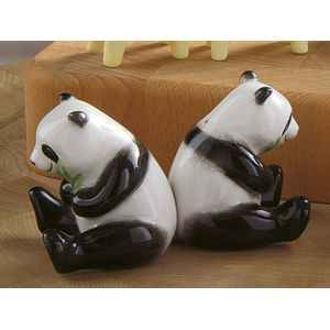 Ceramic Salt & Pepper Cruet Set - Panda