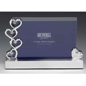 "Hearts & Diamonds Silver Plated Photo Frame 4"" x 6"""