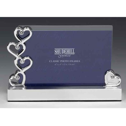 Hearts & Diamonds Wedding Photo Frame